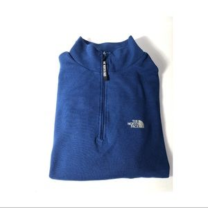 North Face Blue Fleece Quarter Zip Sweater